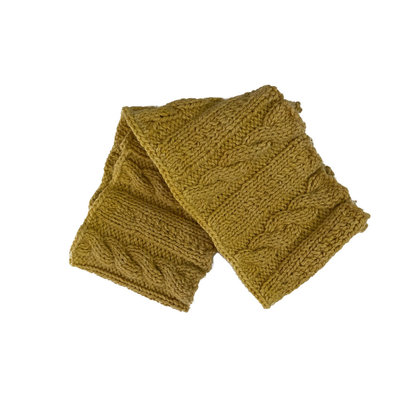 Creation Hive Anne Kenyan Merino Wool Knit Infinity Scarf Gold