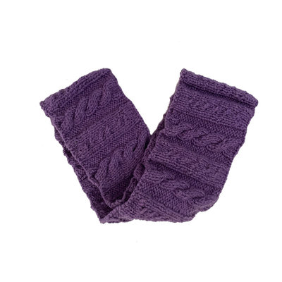 Creation Hive Anne Kenyan Merino Wool Knit Infinity Scarf Purple