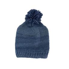 Creation Hive Prax Kenyan Merino Knit Wool Hat Blue