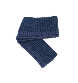 Creation Hive Jane Kenyan Merino Wool Knit Infinity Scarf Blue