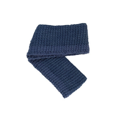Creation Hive Jane Kenyan Merino Wool Knit Infinity Scarf Blue