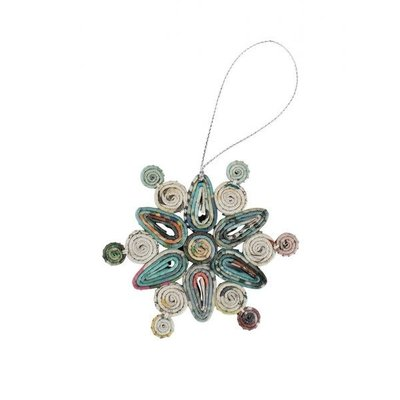 Ten Thousand Villages Artsy Quilled Snowflake Ornament