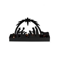 Ten Thousand Villages Starlight Nativity Candleholder