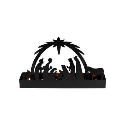 Ten Thousand Villages Starlight Nativity Candleholder