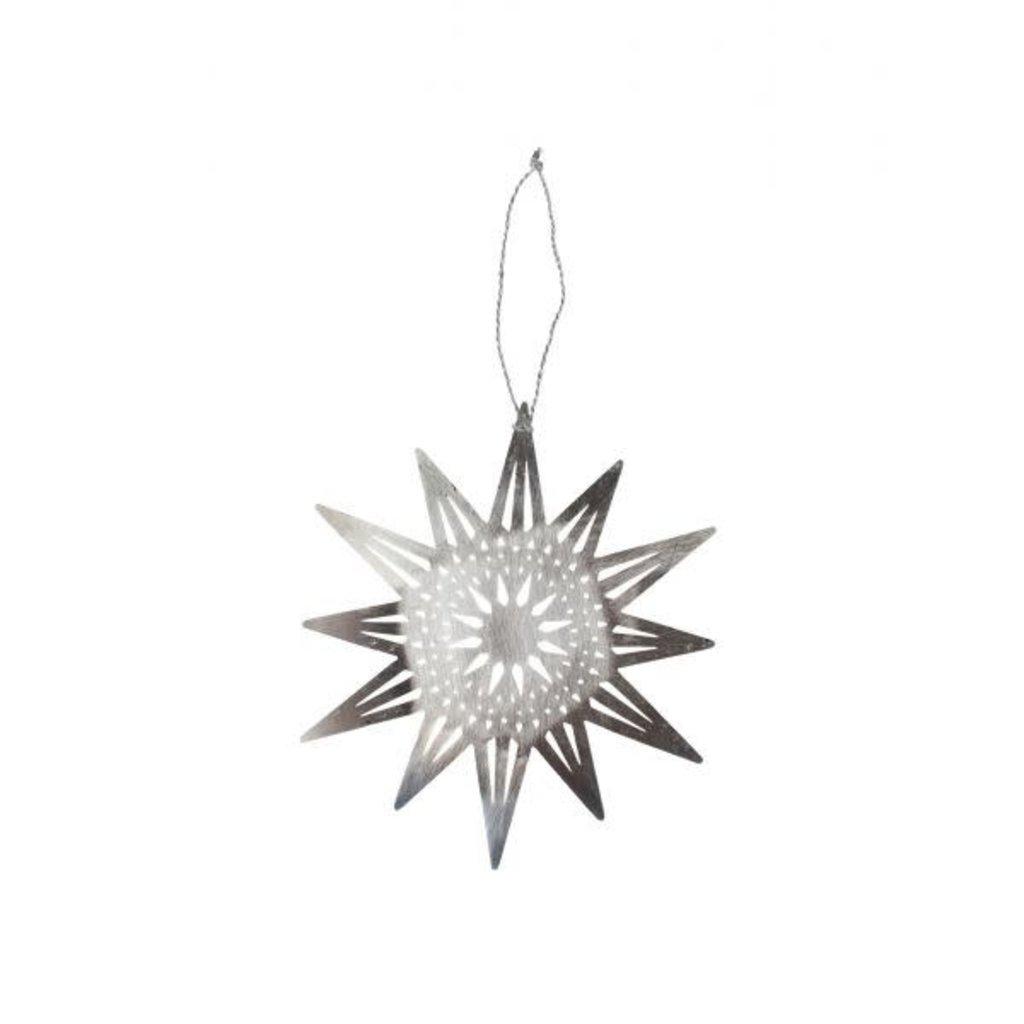 Ten Thousand Villages Bright Silver Star Ornament