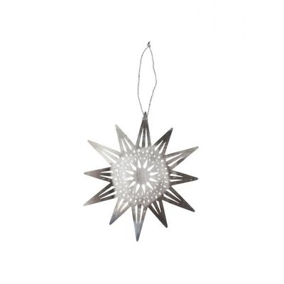 Ten Thousand Villages Bright Silver Star Ornament