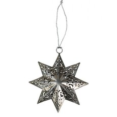 Ten Thousand Villages Fretwork Silver Star Ornament