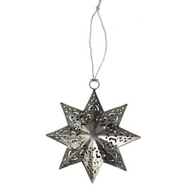 Ten Thousand Villages Fretwork Silver Star Ornament