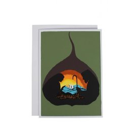 Ten Thousand Villages Bodhi Leaf Nativity Card