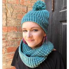 Creation Hive Jane Kenyan Merino Knit Wool Hat Green