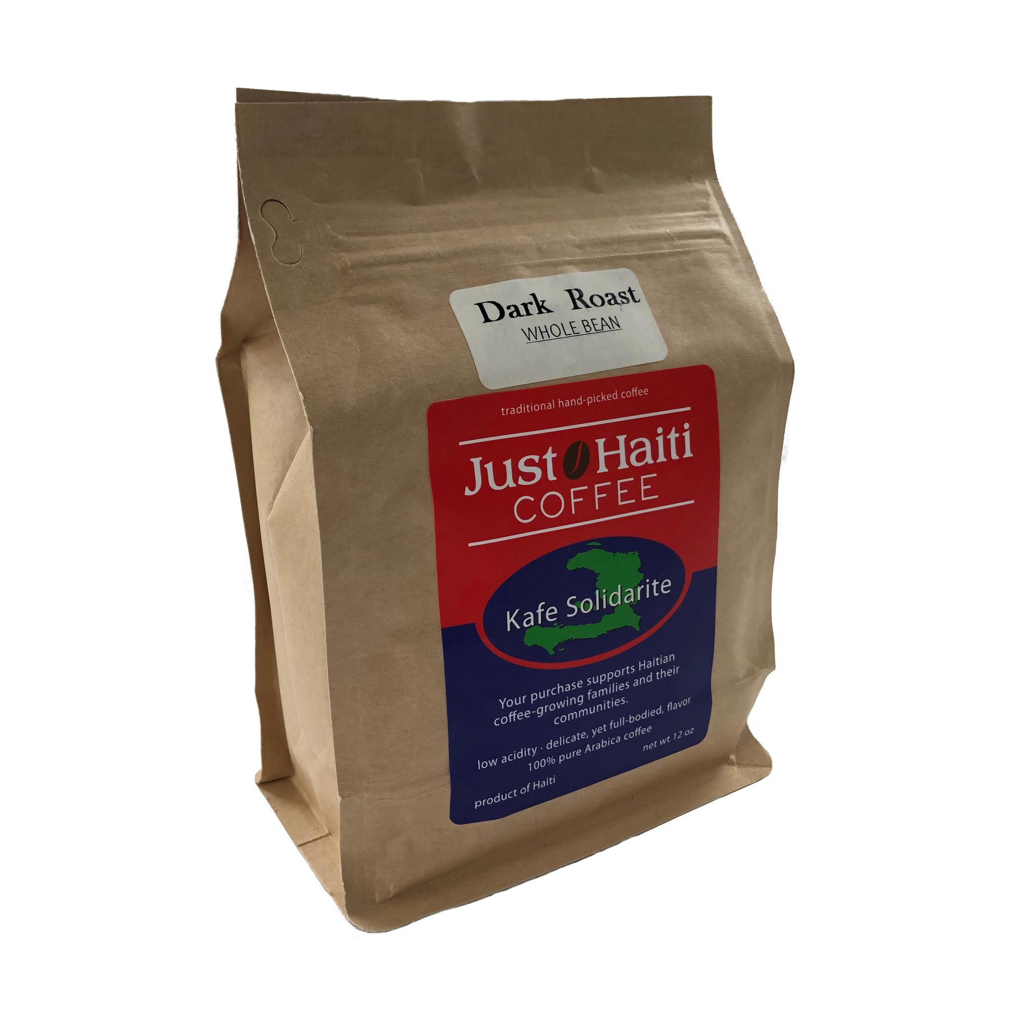 Just Haiti Dark Roast Whole Bean Coffee