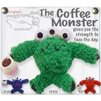 Coffee Monster String Doll Keychain