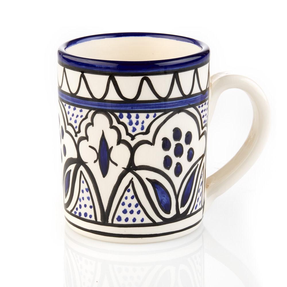 Blue Jasmine Floral Mug
