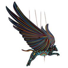 Tulia's Artisan Gallery Flying Alebrije Cat Mobile