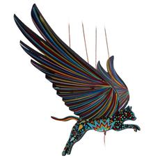 Tulia's Artisan Gallery Flying Mobile: Alebrije Cat