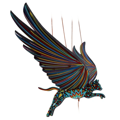 Tulia's Artisan Gallery Flying Mobile: Alebrije Cat