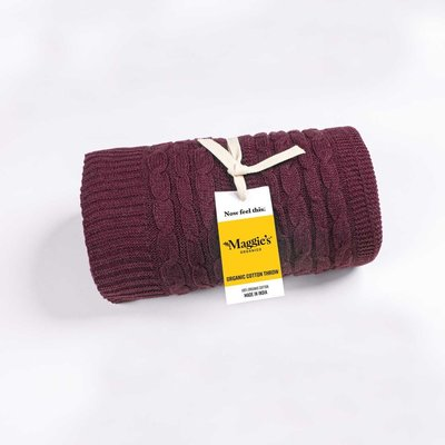 Maggie's Organics Organic Cotton Mulberry Throw Blanket
