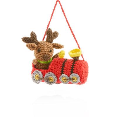Serrv Conductor Moose 2-Piece Ornament