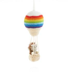 Serrv Aeronaut Hedgehog 2-Piece Ornament