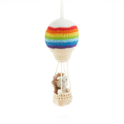 Serrv Aeronaut Hedgehog 2-Piece Ornament
