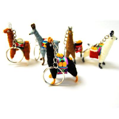 Minga Imports Llama Keychain