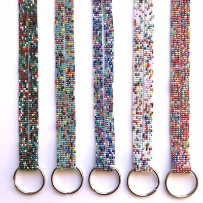 Unique Batik Beaded Key Ring Lanyard