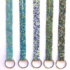 Unique Batik Beaded Key Ring Lanyard