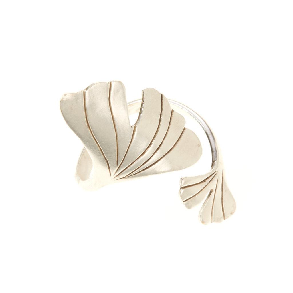 Serrv Gingko Drop Silver-plated Ring
