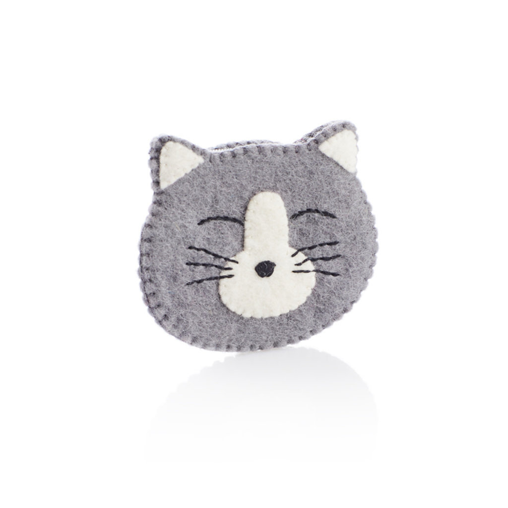 Serrv Happy Cat Felt Coinpurse