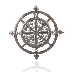 Serrv Compass Metal Wall Art