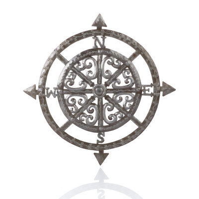 Serrv Compass Metal Wall Art