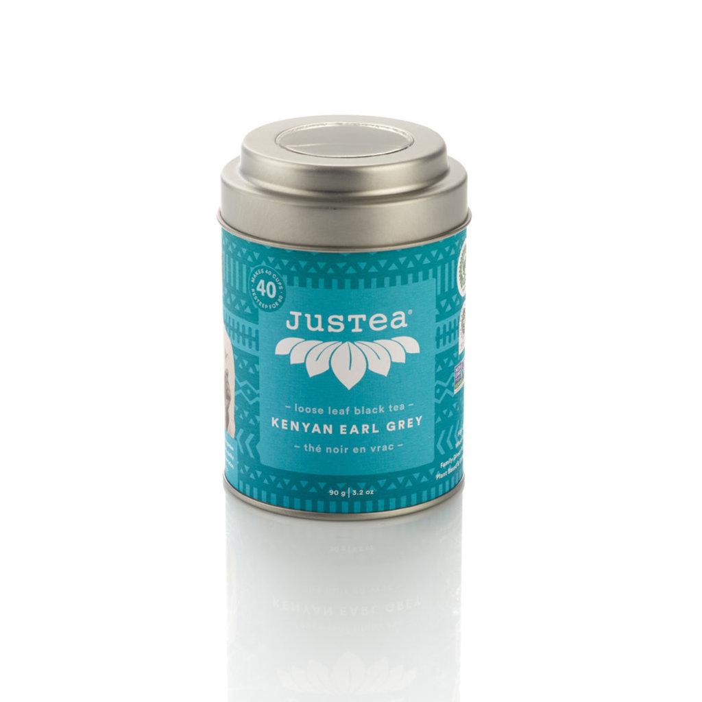 Just Tea Kenyan Earl Grey Loose Leaf Tea Tin