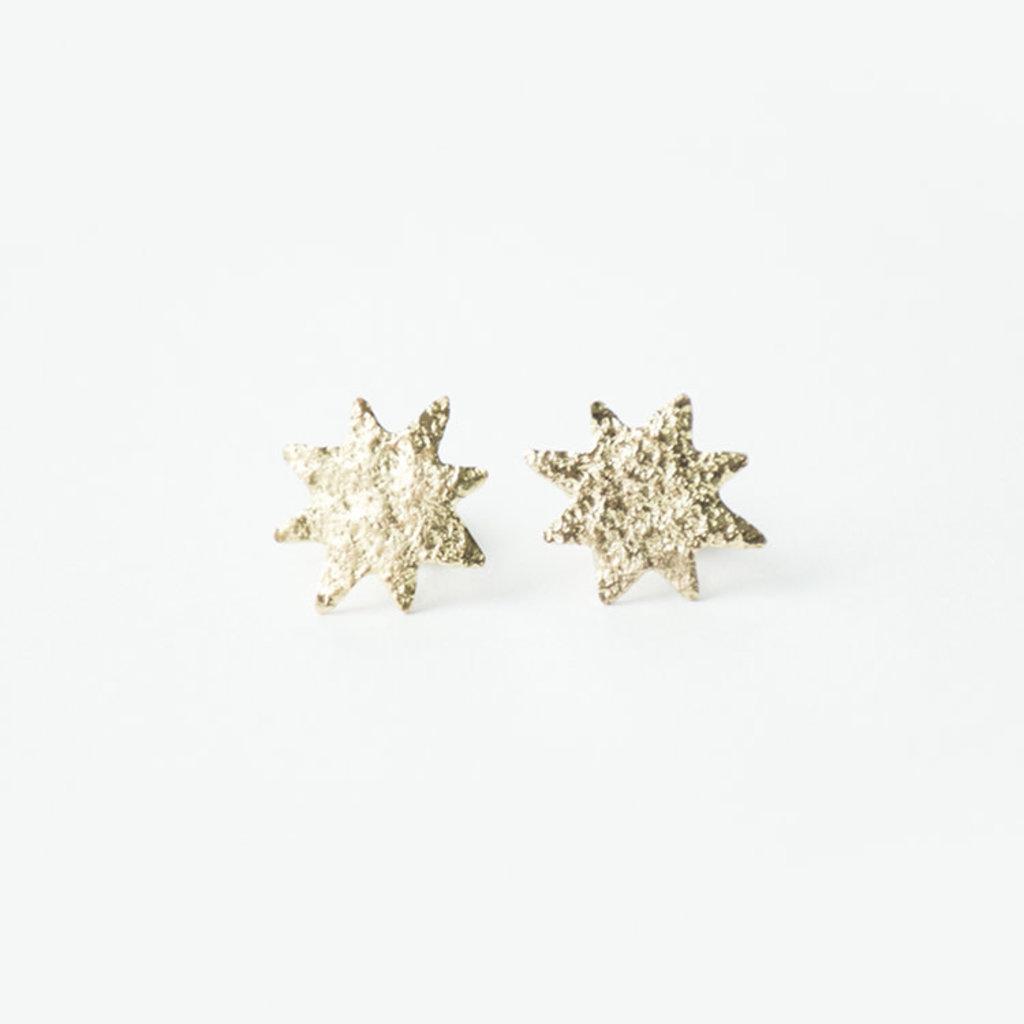 Mata Traders Austen Brass Star Stud Earrings