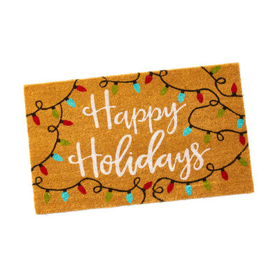 Serrv Happy Holidays Door Mat