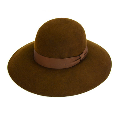 Minga Imports Zoe Felted Wool Hat Brown