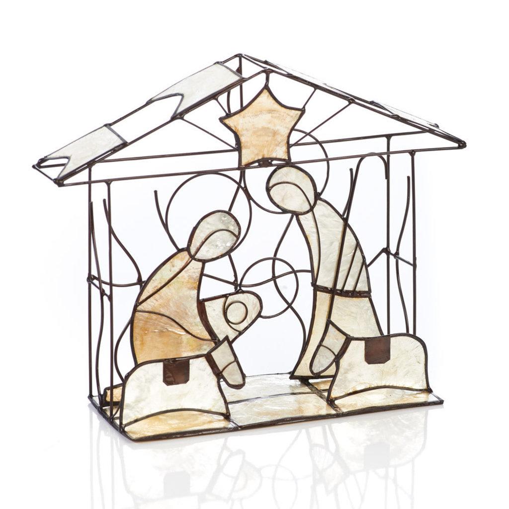 Serrv Capiz Manger Nativity