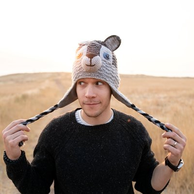 Andes Gifts Adult Animal Hat: Wolf