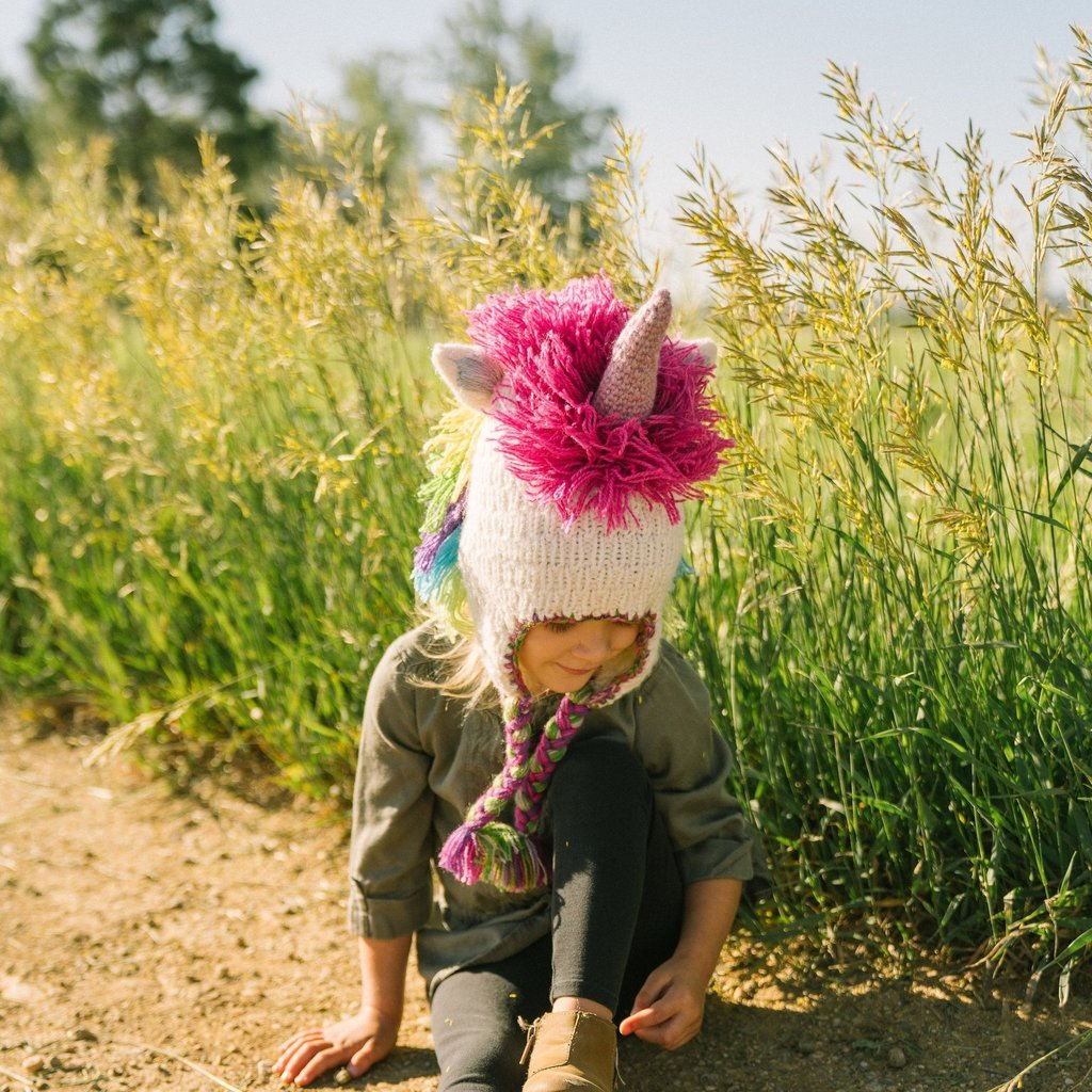 Andes Gifts Kids Animal Hat: Unicorn