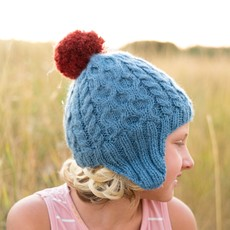Andes Gifts Kids Cable Pom Hat: Aqua