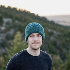 Andes Gifts Reversible Alpaca Cable Hat: Teal