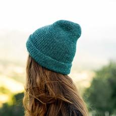 Andes Gifts Milkshake Alpaca Knit Hat: Jade
