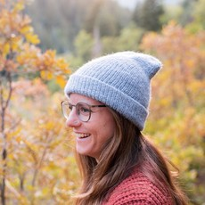 Andes Gifts Milkshake Alpaca Knit Hat: Powder Blue