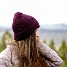 Andes Gifts Milkshake Alpaca Knit Hat: Wine