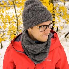 Andes Gifts Milkshake Alpaca Knit Hat: Grey