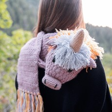 Andes Gifts Animal Winter Scarf: Pastel Unicorn