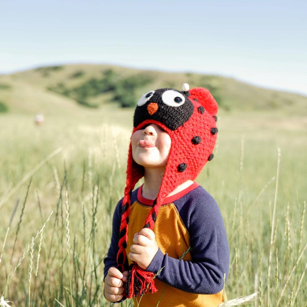 Andes Gifts Kids Animal Hat: Ladybug
