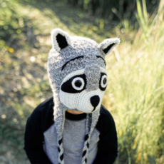 Andes Gifts Kids Animal Hat: Raccoon