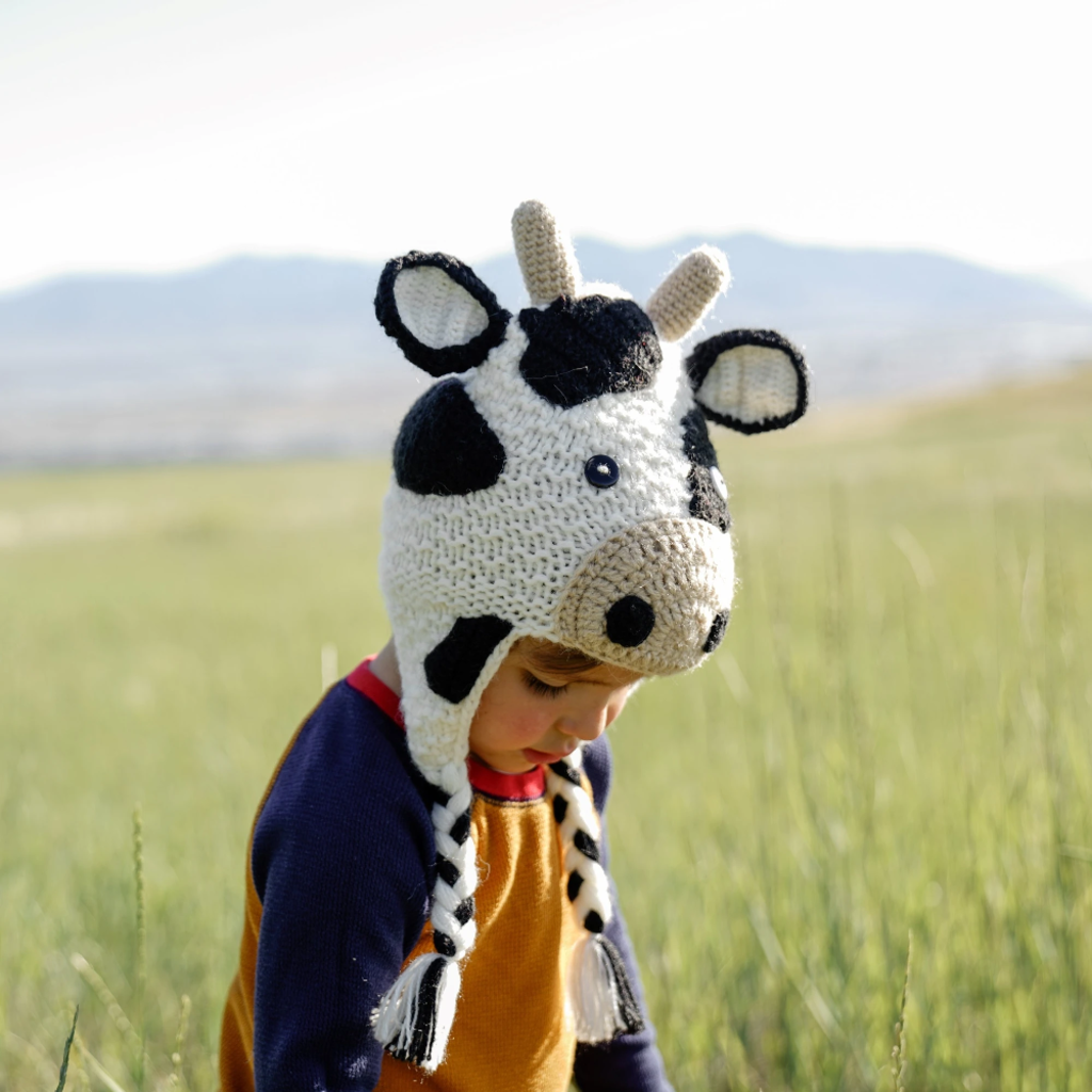 Andes Gifts Kids Animal Hat: Cow