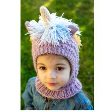 Andes Gifts Kids Animal Hood: Pastel Unicorn