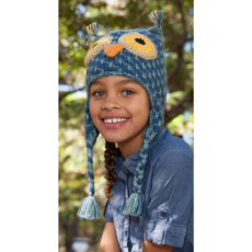 Andes Gifts Kids Animal Hat: Grey Owl
